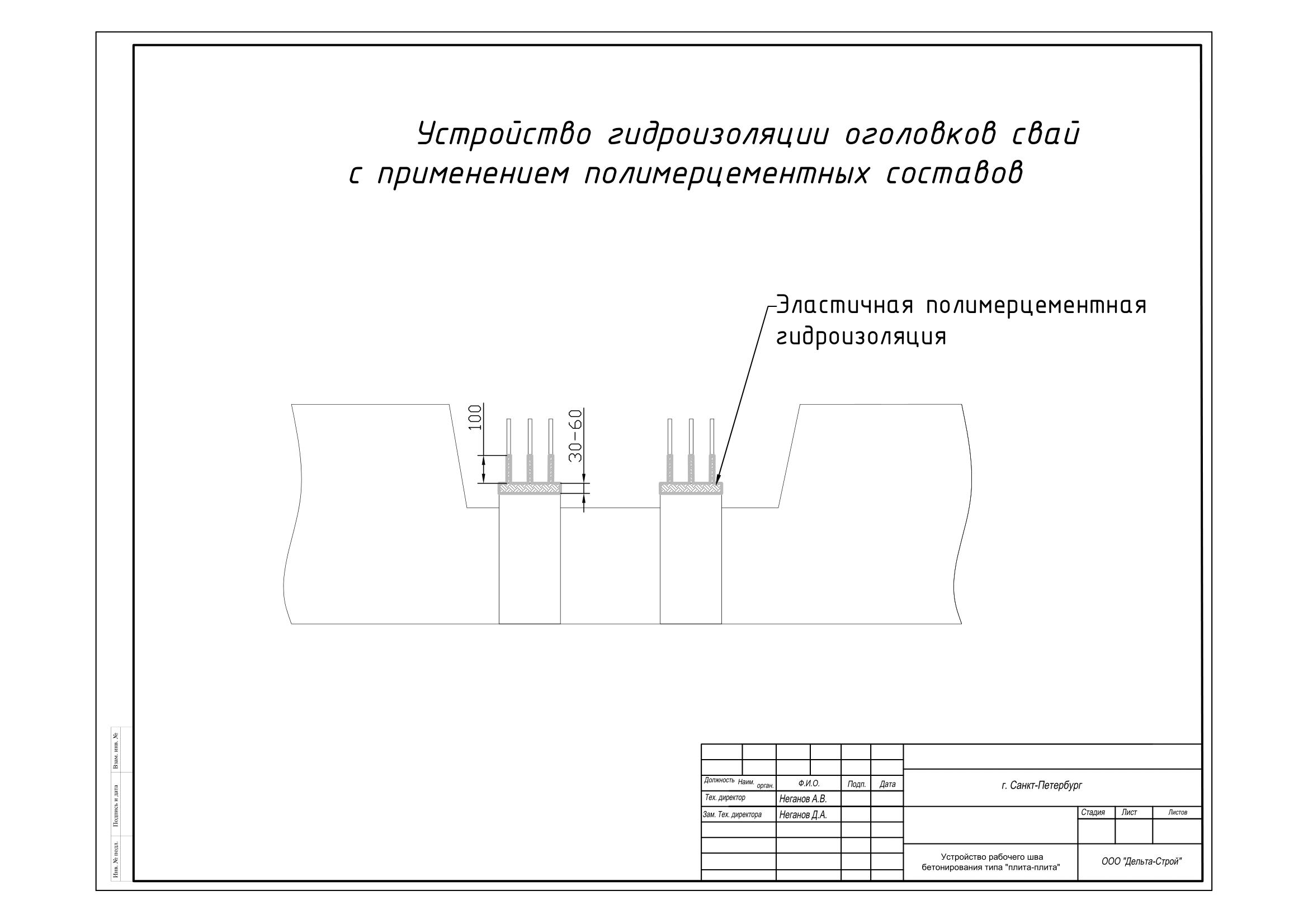 гидроизоляция оголовков свай-1