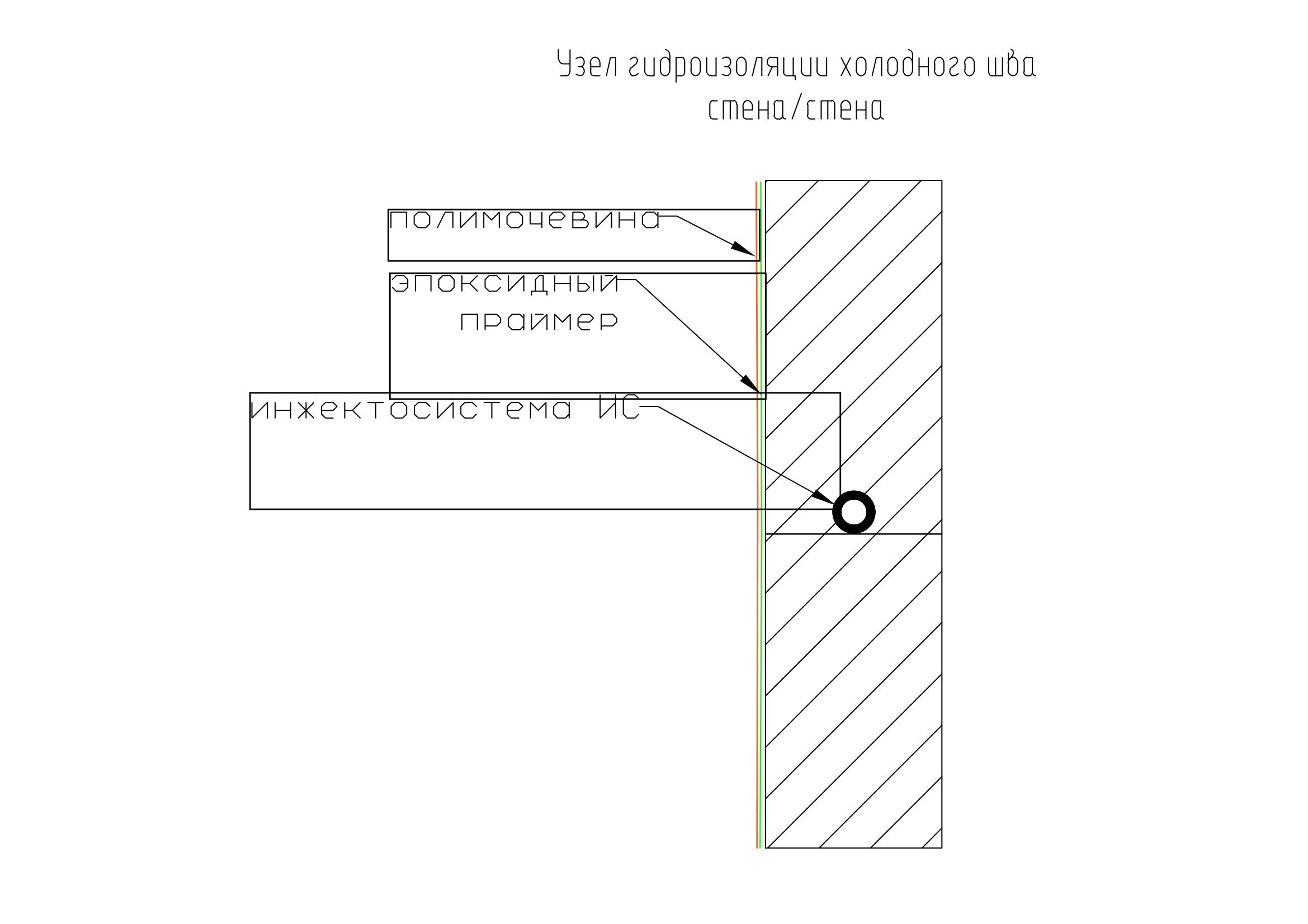 разрез рабочего шва бетонирования-1